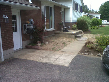 Entrance before landscaping