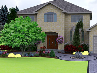 Landscaping 3D design by Oxford Property