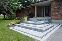Landscaped Stone Patio