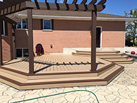 No-maintenance Deck. Azek deck in 2 colours with wrap around stairs